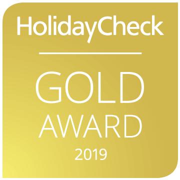Hotel SCHUMANN Holiday Check Gold Award 2019 Auszeichnung