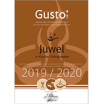 Hotel BEI SCHUMANN Auszeichnung Gusto 2020